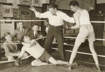 Первые исторические тренировки по боксу