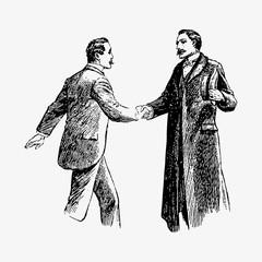 Когда случилось первое рукопожатие