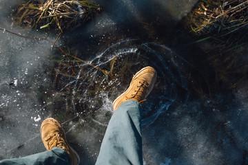 Если внезапно лед провалился и вы оказались под водой